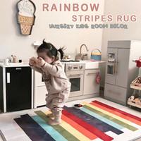 Rainbow Stripe Kids Children Room Playmat Baby Mat Alas Main Anak Bayi