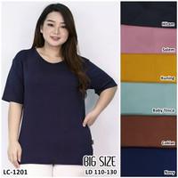 Kaos Oblong Wanita Baju Murah Atasan PolosMelar Jumbo Size LC 1201Big