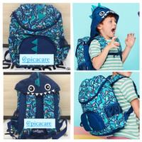 Smiggle Backpack Hoodie Junior Character Dino Tas Ransel Anak Original
