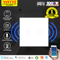 VETTO Smart WiFi Touch Wallswitch - Saklar 2 Gang Putih