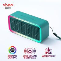 VIVAN VS6 Speaker Bluetooth 5.0 RGB Lighting Effects Waterproof IPX5 - Hijau