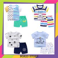 Setelan Baju Anak Import Umur 2 - 5 Tahun Pakaian Laki Laki Perempuan