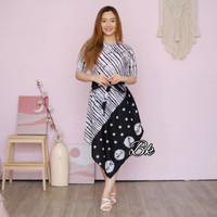 Baju Batik Wanita Tunik Motif Jumputan Lancip Terbaru