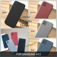 softcase samsung a12 case anti slip superthin silicon sandstone