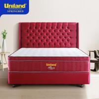 Uniland Springbed 120 x 200 Rivera Plushtop Paris Spring Bed Full Set - Maroon