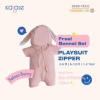 Playsuit Bonnet Set (Romper / Jumper Anak dan Bayi) - Kalale - Salmon