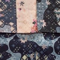 Kain Sifon Motif Bunga Kotak Hijab