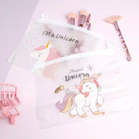 Zipper Bag Pouch Tempat Pensil Pulpen Make Up Kosmetik Organizer - PINK PANTHER