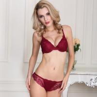 Bra Set BH + Celana Dalam Wanita Sexy Elegant Import Renda Lingerie 3