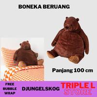 Boneka Beruang Besar Jumbo Coklat 100 cm IKEA