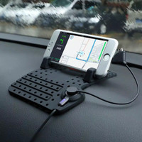 Charger HP Dashboard Mobil Docking Phone / Car Holder Super Flexible