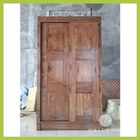 almari / Lemari sliding pintu 2 wadrobe pakaian jati TPK berkualitas