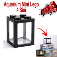 AQUARIUM MINI MODEL LEGO SOLITER MINI TANK SOLITER CUPANG 8x8x11cm