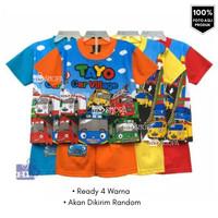 Baju Setelan Anak Tayo Full Print Size 2-10th TR Setelan Anak Karakter