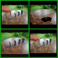 Terlaris Selfie Aquarium Akrilik Acrylic Ikan Cupang 5 Sekat Kamar