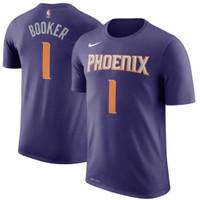 T-shirt Kaos Baju Basket Phoenix Suns Devin Booker Ungu