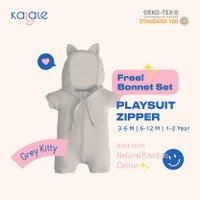 Playsuit Bonnet Set (Romper / Jumper Anak dan Bayi) - Kalale - Grey