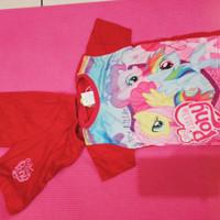 Baju Kuda poni anak 2 tahun merah