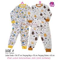 Piyama Baju Tidur Anak Minion Mickey Bear 2 3 4 5 6 7 Tahun