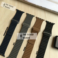 Strap Apple Watch 5 Leather Loop Kulit Tali Band Iwatch 40mm 44mm