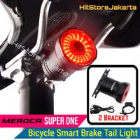 Lampu Rem Sepeda Auto Bicycle Smart Brake Tail Light Meroca Super One