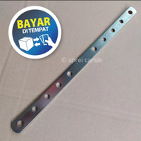 TIANG BREKET BOLONG KNALPOT RACING CHROME STAINLEES P 33cm L 2cm T 3mm