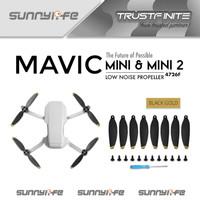 Sunnylife Lightweight LowNoise 8pcs Propeller Baling Baling Mavic Mini - White Blue, Mavic Mini