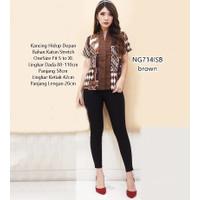 Baju Blouse Batik Atasan Wanita Jawa Parang Formal Kerja Kantor NG714