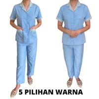 Baju seragam suster c.pnjng dan kulot. 5 plihan wrn (tipe bunga warna)