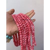 batu kristal red borneo pink 8mm banjar crystal stone healing serat