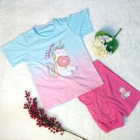 Baju Tidur Setelan Unicorn Remaja Dewasa Celana Panjang Baju Pendek