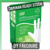 Sensi Sarung Tangan Medis Latex Hand Gloves isi 40 Warna Putih