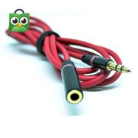 Kabel Perpanjangan Aux Audio Jack 3.5mm Male to Female Extension Ext - Strip 3 Putih