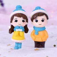Miniatur Sepasang Kekasih Baju Winter Miniatur Couple