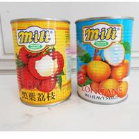 Mili longan kaleng buah kelengkeng lengkeng thailand leci l