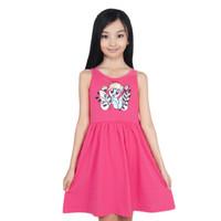 Baju Dress Anak Perempuan Cewek Bahan Katun Print Umur 4-10 Tahun