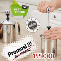 Pengocok Susu Cappucino Double Mesh Milk Frother Foam Latte Art Coffee