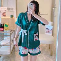 Setelan Piyama Wanita Baju Tidur Kimono Snow White + Celana Pendek JS