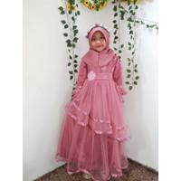 Baju Pesta Anak / Gaun Pesta Anak Muslim Umur 3 tahun - 10 tahun gamis