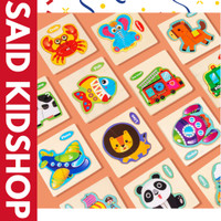 Puzzle Kayu / Jigsaw Puzzle / Wooden Puzzle 3 Keping Lucu