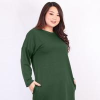 STAYL BIGsize - Tunik Wanita Besar Bahan Babyterry Tebal Jumbo Yasmin - Army