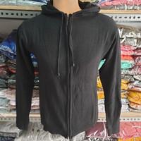jaket sweater rajut ariel pria maroon/navy/hitam/abu muda/abu tua - Hitam