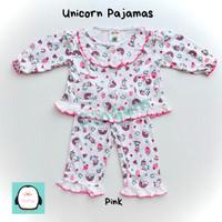 Piyama Bayi 0-12 Bulan Setelan Panjang Baju Tidur Anak Perempuan Murah - Merah