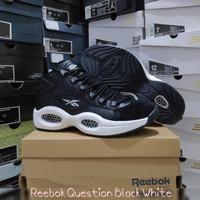 (Size 40) Iverson Reebok Question Black White / sepatu basket