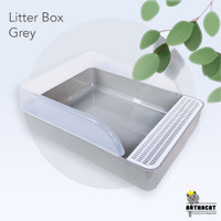 Arthacat Spacious Litter Box – Tempat Bak Toilet Pasir Kucing Besar - Grey