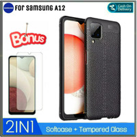 Case Samsung A12 Soft Case Free Tempered Galas Layar Galaxy A12