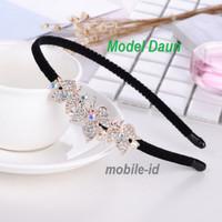 Fashion Bando Manik Tercantik 2021 Model Diamond - Model Daun