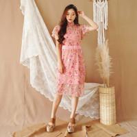 JINGCAI BROCADE DRESS / Pakaian Wanita Korea / Korean / Imlek - Hitam