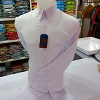 kemeja baju pria lengan panjang putih polos harga grosir