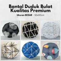 Bantal Duduk - Alas Lesehan BULAT, Premium Ukuran 50x50 Banyak Pilihan